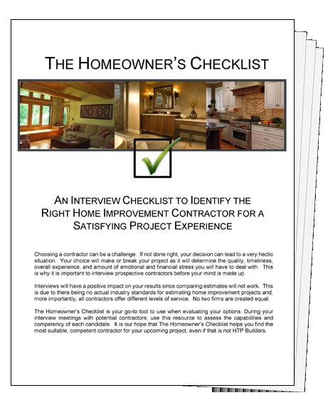Handyman - Homeowner Checklist