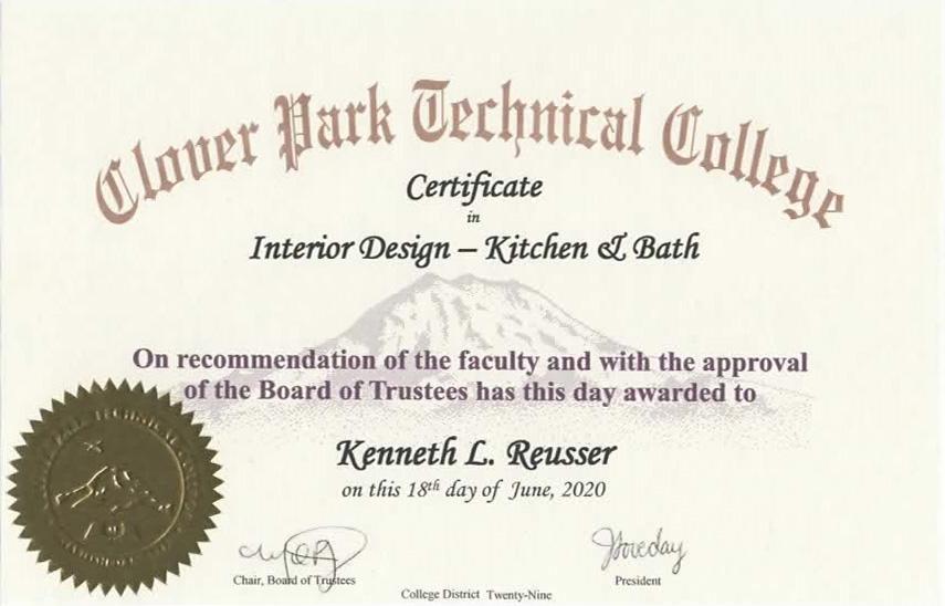 Kitchen & Bath Design Certificate