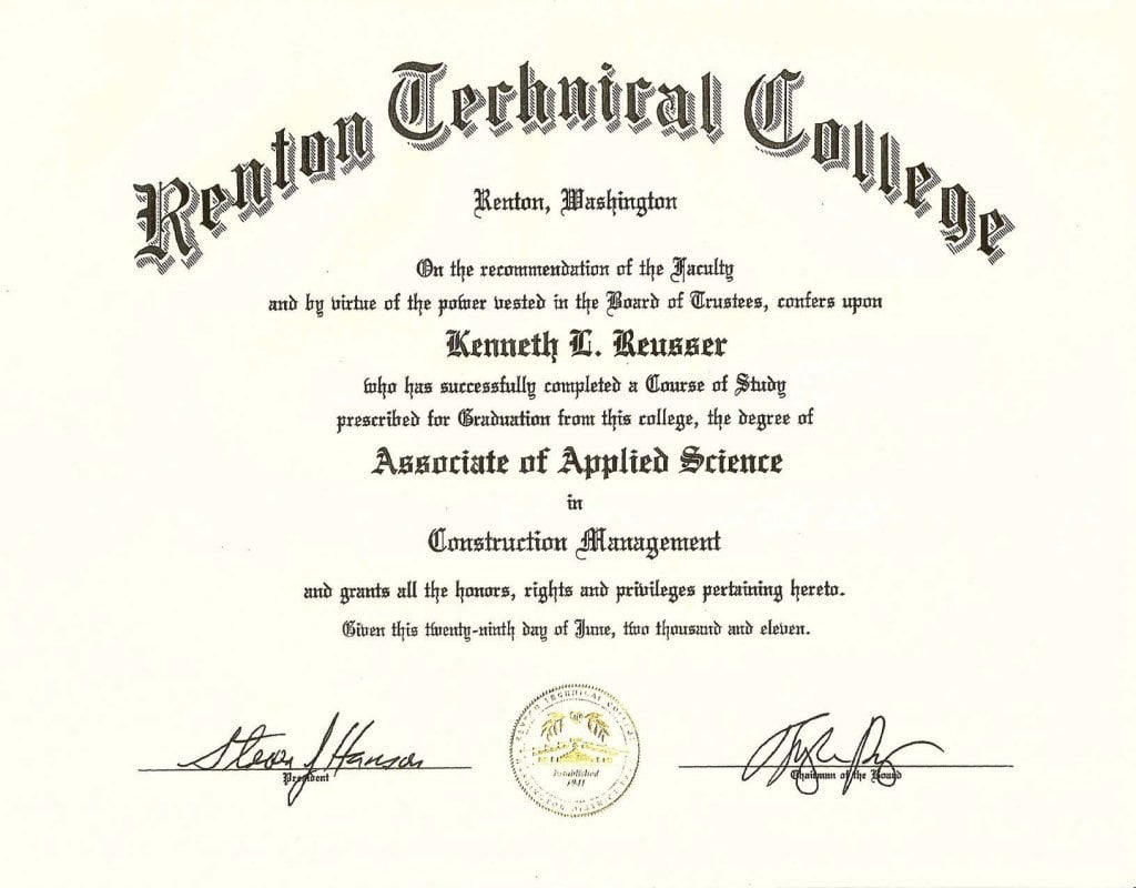 Associate of Applied Science in Construction Management