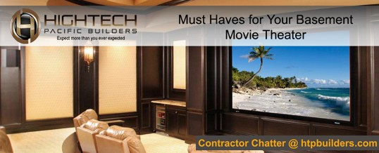 Must Haves for Your Basement Movie Theater