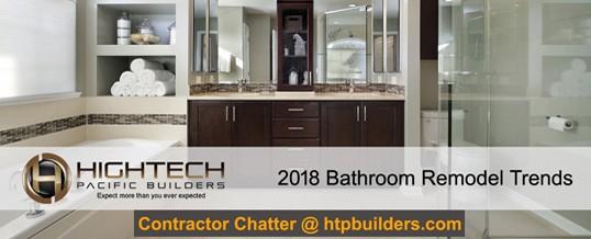 Bathroom Remodel Contractor Lean The Bathroom Remodel Trends For - Bathroom remodel trends 2018