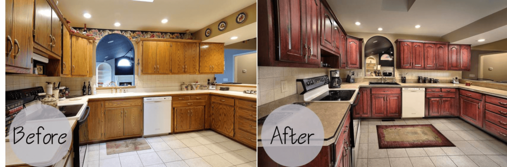 Cabinet Refinishing Before - After