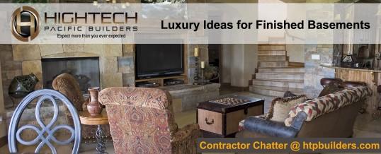 Luxury Ideas for Finished Basements
