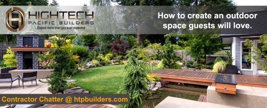 How to create an outdoor space guests will love