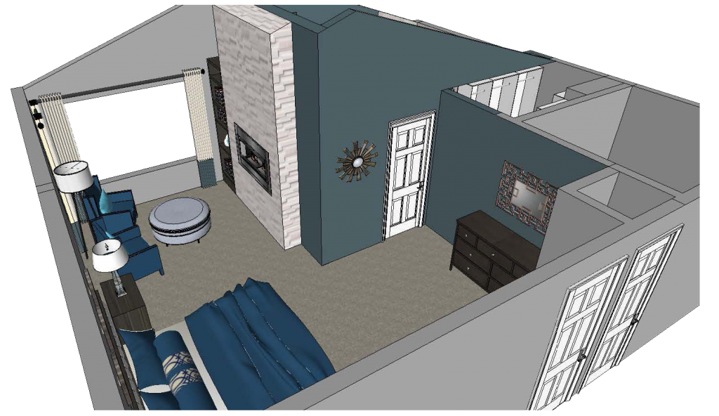Interior Design 3D Rendering