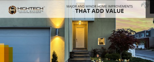 Major and minor home improvements that add value