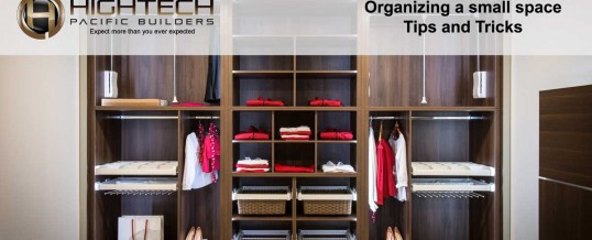 Organizing a small space – Tips and Tricks