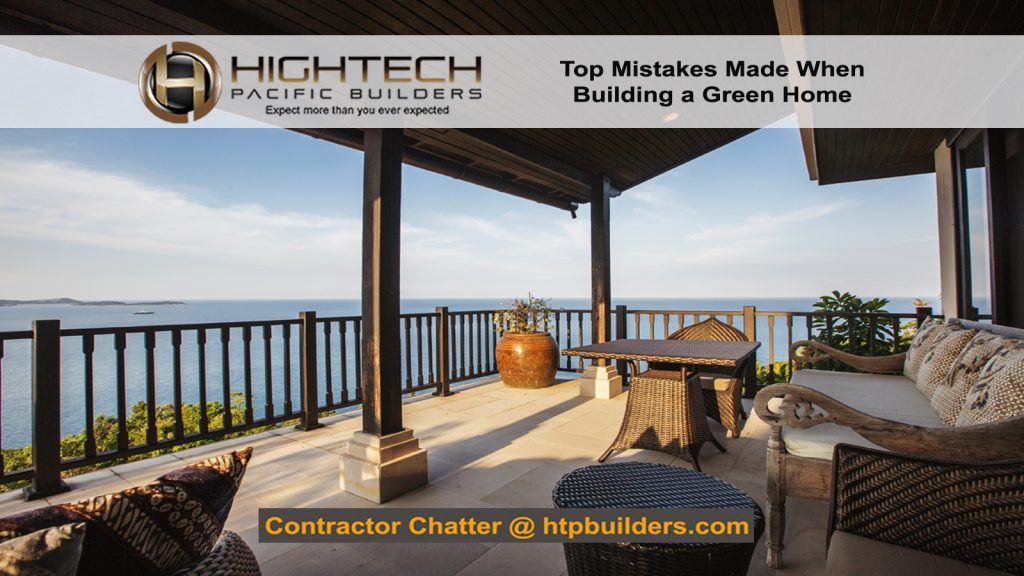 Mistakes Building a Green Home