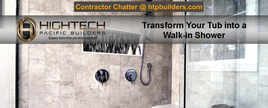Transform Your Tub into a Walk-in Shower