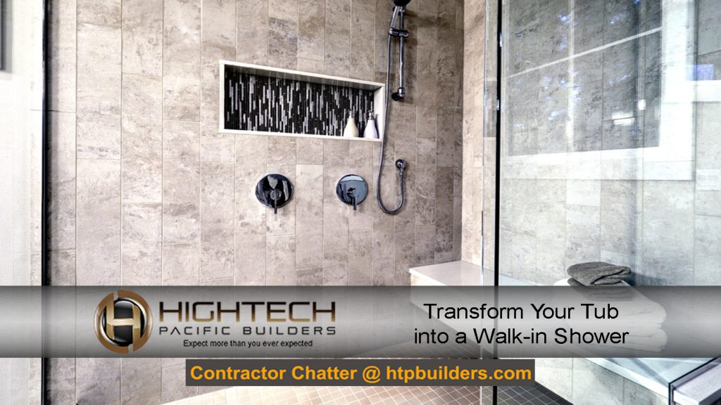 Tub to walk-in shower