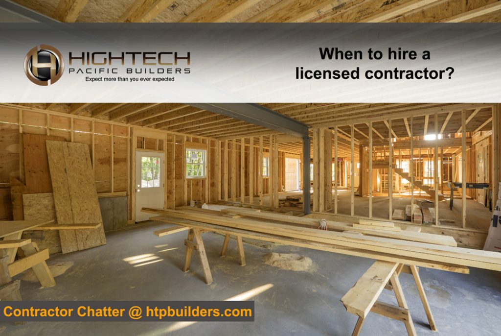 When to hire a licensed contractor