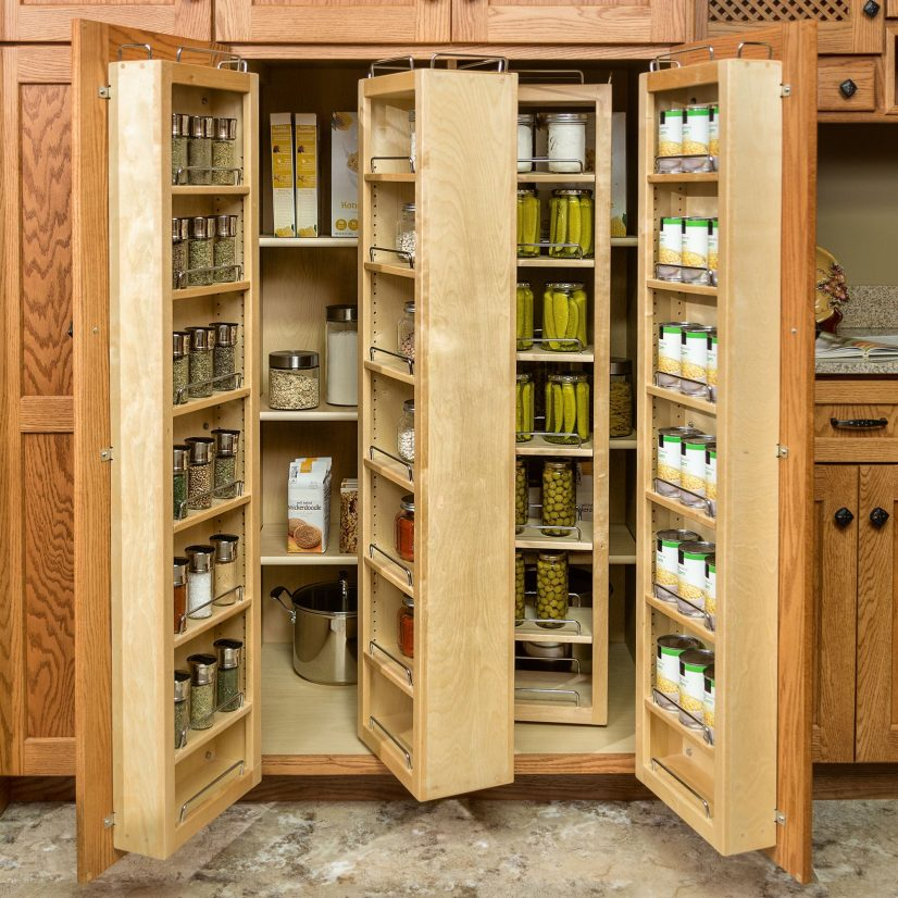 Rotating pantry pull outs